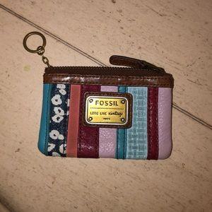 Fossil keychain card case